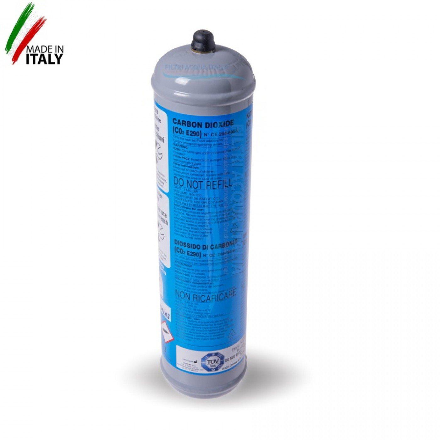 BOMBOLA CO2 600 grammi Usa e Getta Attacco 11 mm
