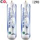 BOMBOLA CO2 ALIMENTARE E290 600 gr. Usa e Getta Attacco 11 mm SET 2 Pezzi
