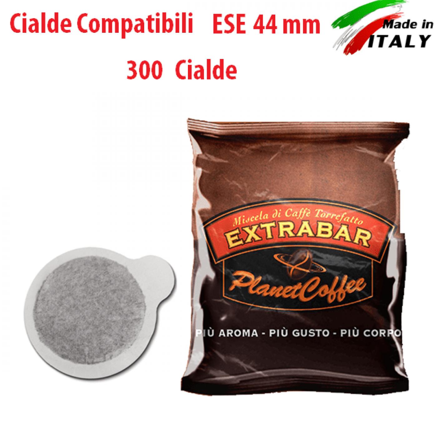 CIALDE COMPATIBILI ESE 44 mm CAFFE' MISCELA ORO 300 Pz