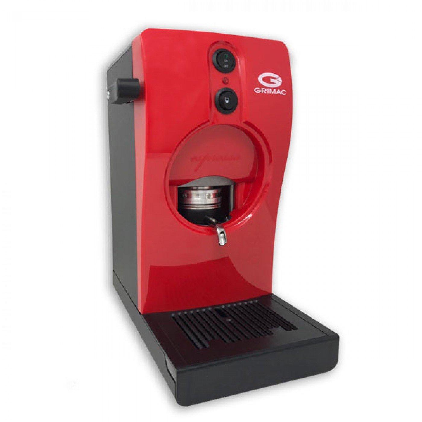 Grimac Macchina Caffè a Cialde Colore Rossa