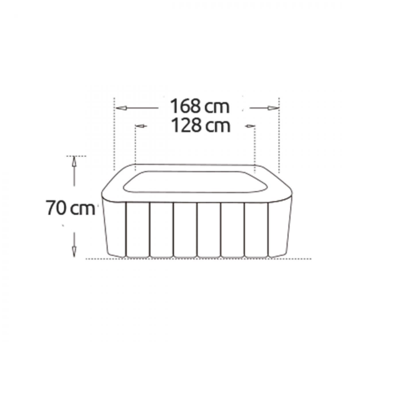Piscina idromassaggio CAIMAN gonfiabile Quadrata 4 Posti da esterno NETSPA