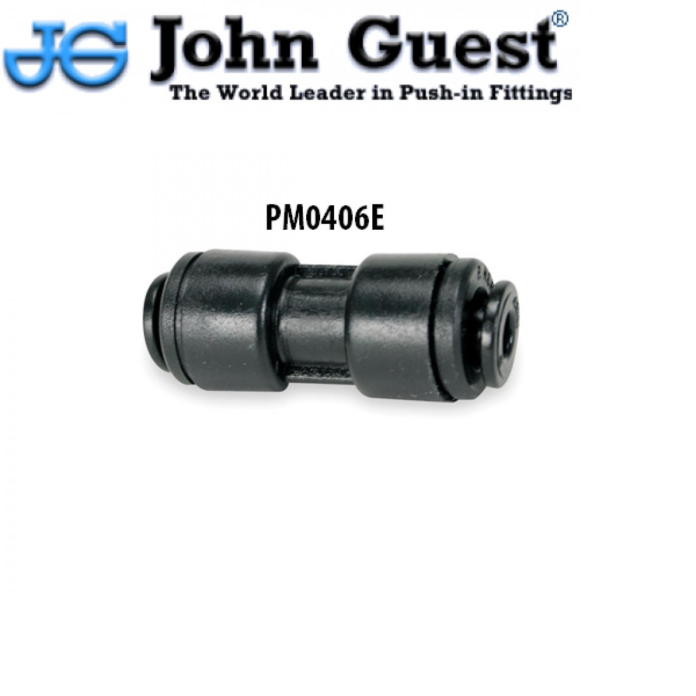 INTERMEDIO DIRITTO PER TUBO DA 6mm X 6 mm JOHN GUEST PM0406E