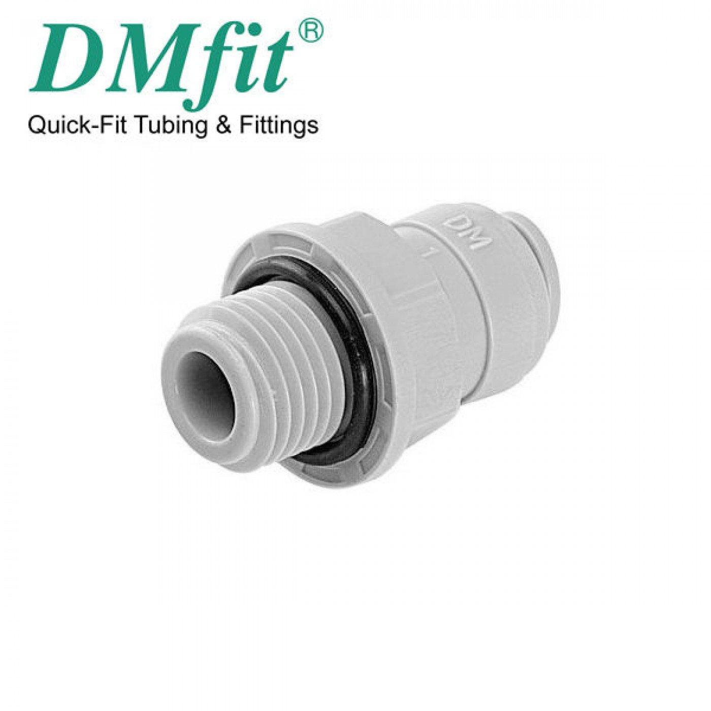 """TERMINALE DIRITTO TUBO 3/8"""" x 3/8"""" FILETTO DMFIT AMCB0606"""