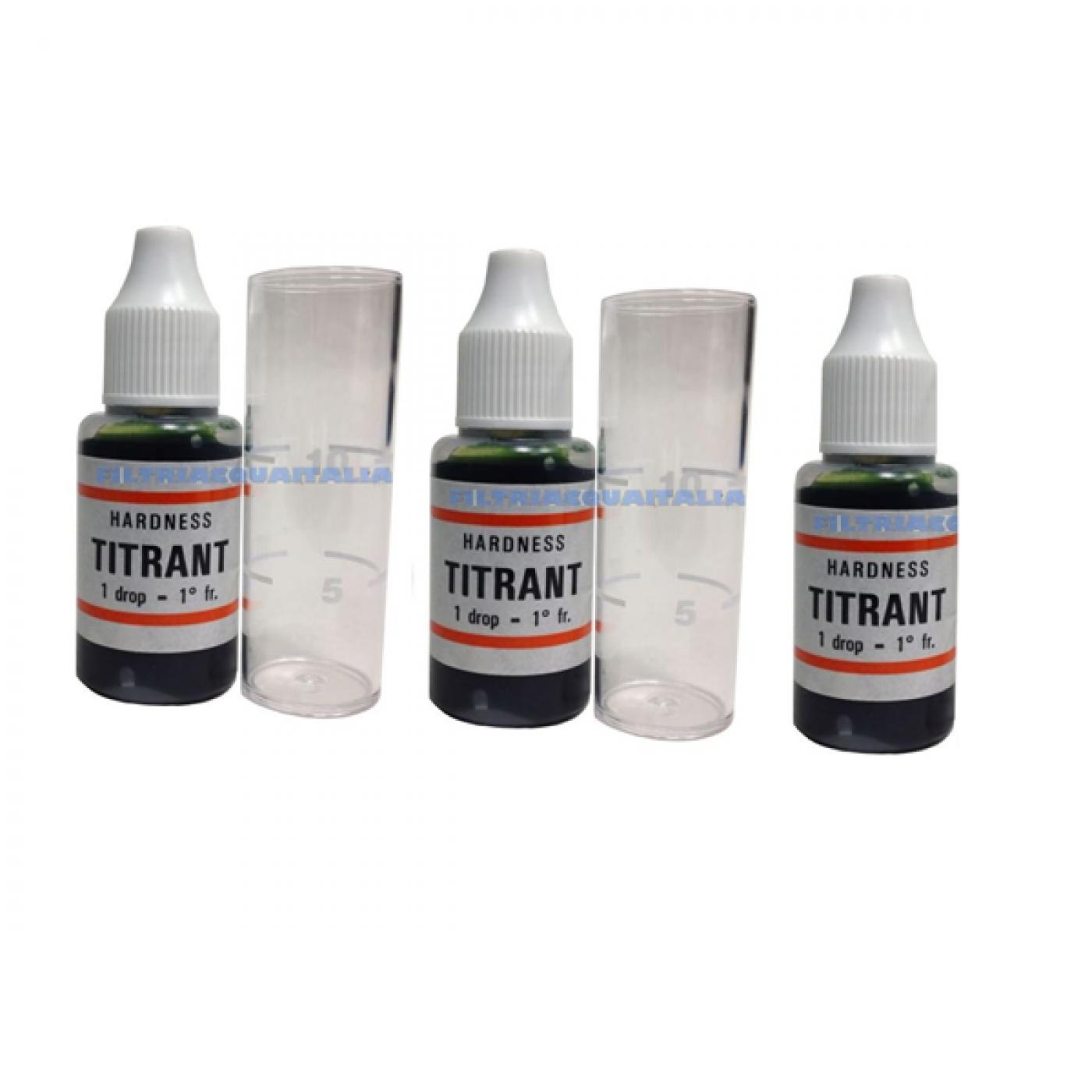 Titrant Test Durezza Acqua Set 3 Pezzi