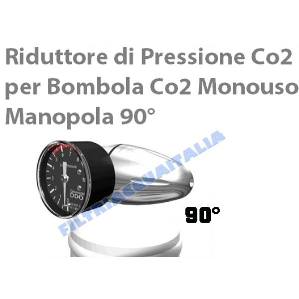 RIDUTTORE DI PRESSIONE CO2 PER BOMBOLA 600 gr E290 MANOPOLA 90°