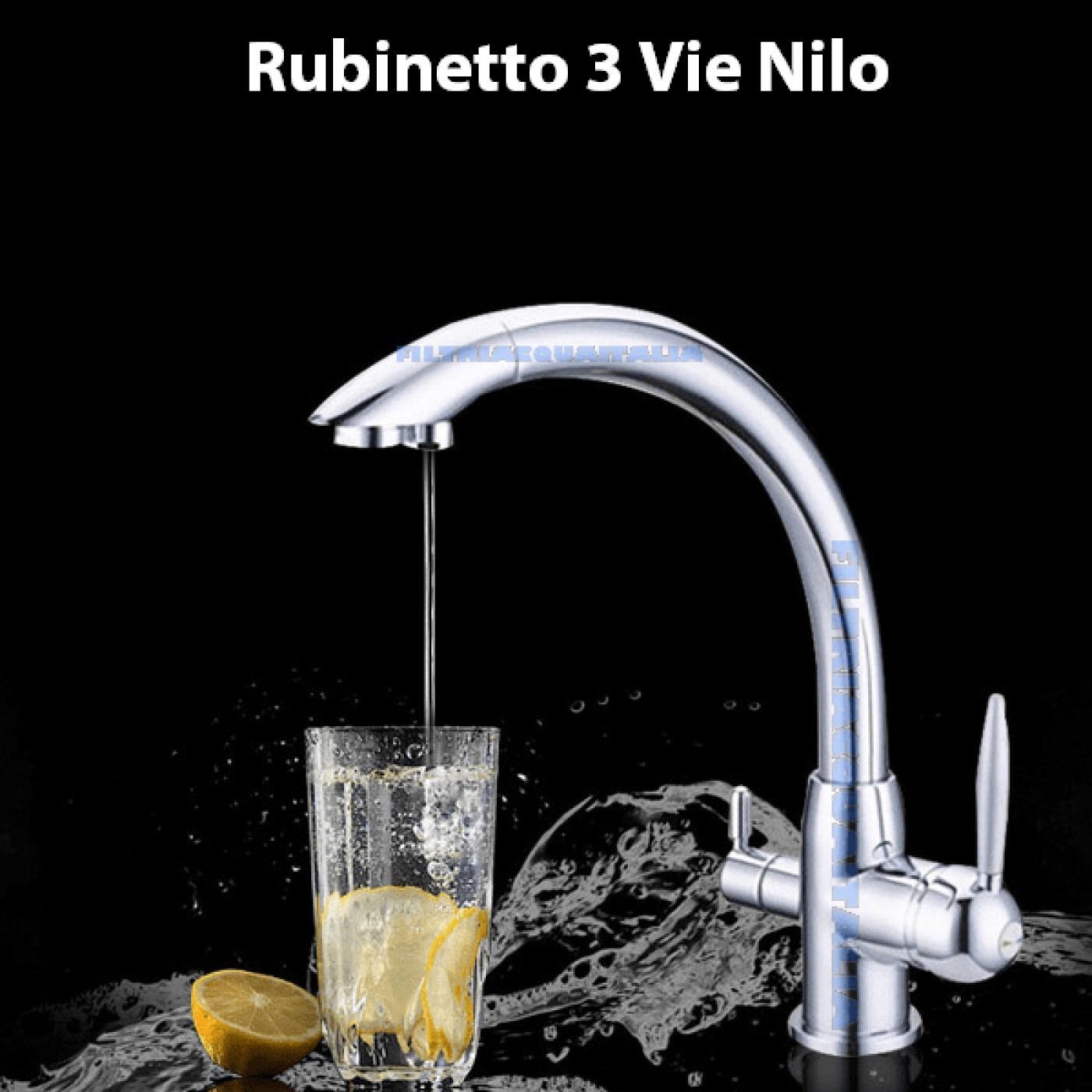 RUBINETTO A 3 VIE PER DEPURATORE ACQUA NILO
